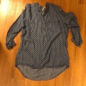 Jean 3/4 sleeve shirt